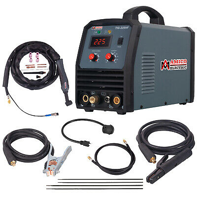 TIG-220DC, 220 Amp TIG Torch Stick ARC DC Welder 115/230V Dual Voltage Welding