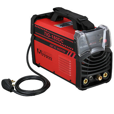 TIG-180DC, 180 Amp TIG Torch Stick ARC DC Welder 115/230V Dual Voltage Welding