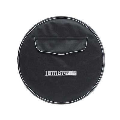 "LAMBRETTA 10"" Spare Wheel Cover Black With Front Pocket"