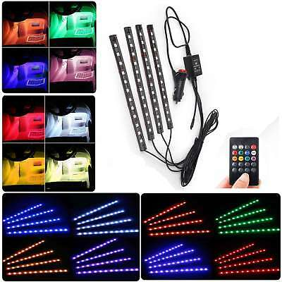EL LED Ambientebeleuchtung Strip RGB Auto Innenbeleuchtung Fußraumbeleuchtung