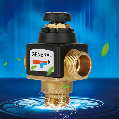 3-Way DN20 Male Thermostatic Mixing Valve for Water Heater Temperature Control