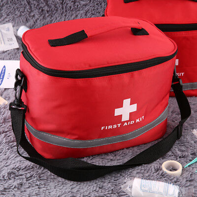 Sports Camping Home Medical Emergency Survival First Aid Kit Bag Outdoors #UK
