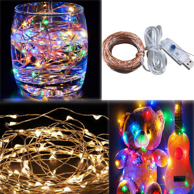 2M 3M 5M 10M USB/Battery Led string lights Copper Silver Xmas Christmas Party