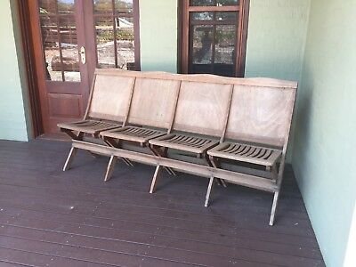2 X Used 4 seater Vintage Timber Bench seats ,