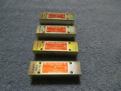 4 - SPST 24 VAC Reed Relays, Magnecraft Electric, USA Seller