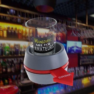 Fun Spinner Spin The Shot Roulette Glass Alcohol Drinking Game Gift New OZ AU