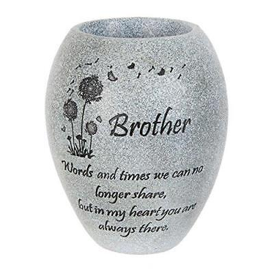 Graveside Memorial Vase Brother Husband Memorials Grave Stone Cemetery Funeral