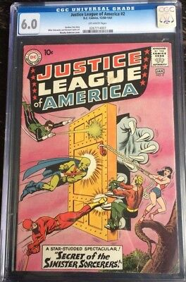 Justice League Of America #2 CGC 6.0 Off White Pages