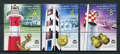 Israel 2009 MNH Philately Day Lighthouses Jaffa Tel Aviv Ashdod 3v Set Stamps