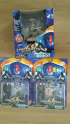 LOST IN SPACE BATTLE RAVAGED ROBOT, Dr Smith, Don West 1997 TRENDMASTERS