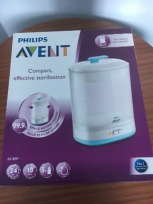 Philips Avent 2 In 1 Electric Steam Steriliser SCF292/01 Free Postage