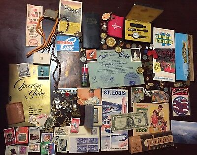 ⭐️Vintage Junk Drawer Lot~ Silver Coins/Stamps/Jewelry/lighter/collectibles⭐️