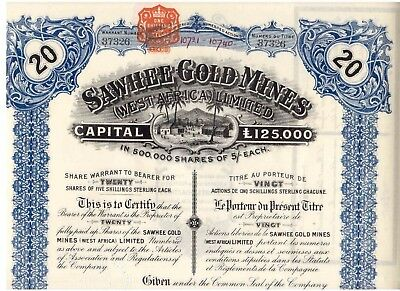 Sawhee Gold Mines  West Africa Limited  1911