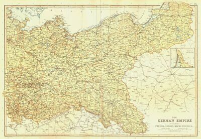 GERMAN EMPIRE EAST. Prussia Saxony Mecklenburg Silesia. BLACKIE 1893 old map