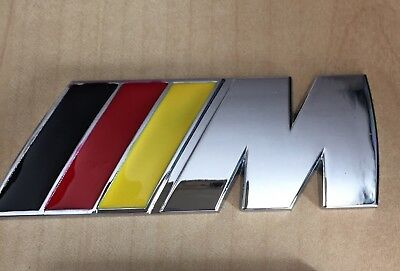 Bmw M Power Sport German Flag Metal Badge Rear Boot Emblem  1 2 3 4 5 6 7 X5 X6