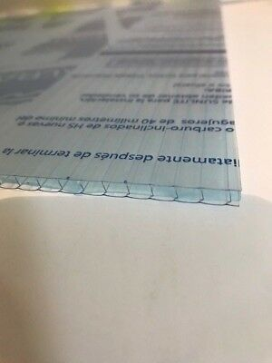 4mm Clear Twinwall Polycarbonate Sheet 700mm x 2000mm Greenhouse Replacement