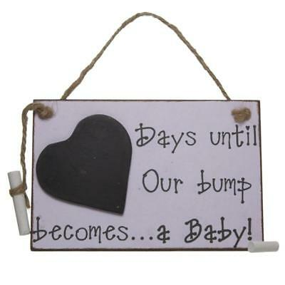 Days Until We Our Bump Becomes A Baby Pink Girl Chalkboard NHH014K-HS
