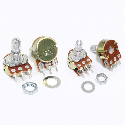 B1k - B1M Ohm Lin Linear Mono Stereo B Pot Potentiometers 15mm Splined Shaft
