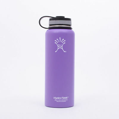 New 32oz Hydro Flask Insulated Stainless Steel Water Bottle Wide Mouth purple