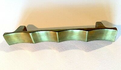 Set of 4 Vintage Asian Style Solid Brass Bar Drawer Pulls 6.25 Inches Long