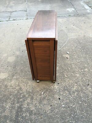 VTG HIDEAWAY Mid Century Modern Compact Dining Set Gateleg Table - Mid century modern gateleg table