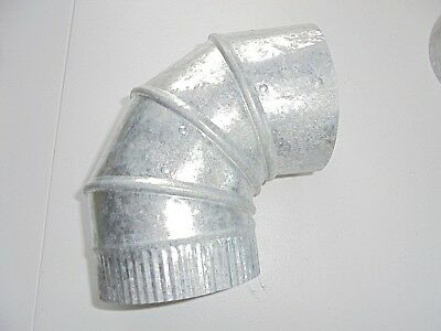 Galvanized Metal Elbow 90 Degree Duct HVAC 5 x 5 Heating & Cooling