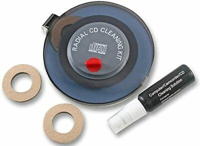 Radial CD and DVD Disc Cleaning Kit Safely Cleans Discs Fully