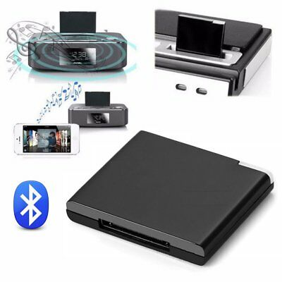 Bluetooth A2DP Music Receiver Adaptateur audio pour iPod iPhone 30 Pin Dock FR