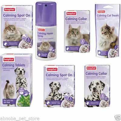 Beaphar Dog Puppy Cat Kitten Calming Spray Spot On Collar Reduces Stress