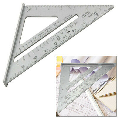 """6"""" Aluminium Alloy Roofing Rafter Speed Square Triangle Angle Measuring Guide"""