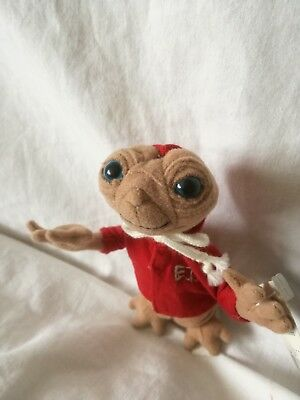 E.t. The Extra Terrestrial Plush Beanie Soft Toy - Universal Studios - Vg + Tags