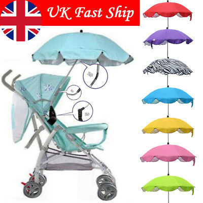 Baby Sun Umbrella Parasol For Pram Pushchair Stroller Sun Rain Protection Cover