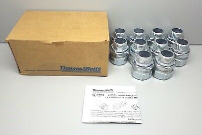"New Thomas & Betts 5234-Tb 1"" Liquidtight Flexible Metal Conduit Connector Pack"