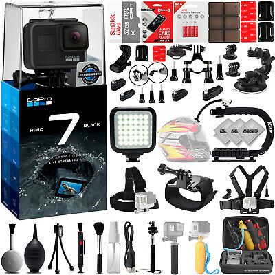 GoPro Hero 5 Hero5 12MP Digital Camera w/ 32GB - 38PC Sport Action Bundle