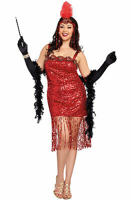 Brand New 1920's Gatsby Flapper Ain't She Sweet Plus Size Costume