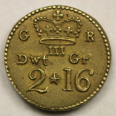 British Coin Weight 2 Dwt 16 Gr George III Coined Since 1772