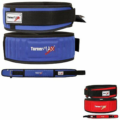 TurnerMAX Weight Lifting Back Support Lycra Belt Body Building Gym Fitness Blue