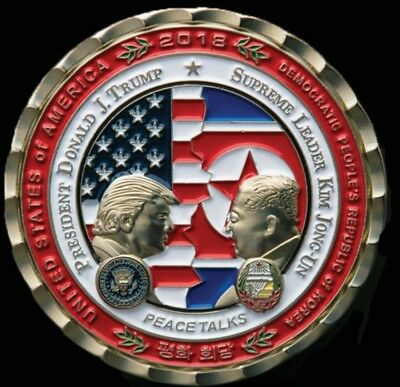 PRESALE -Trump - Kim Jong-Un NoKo Peace Talks Summit OFFICIAL WHITE HOUSE COIN