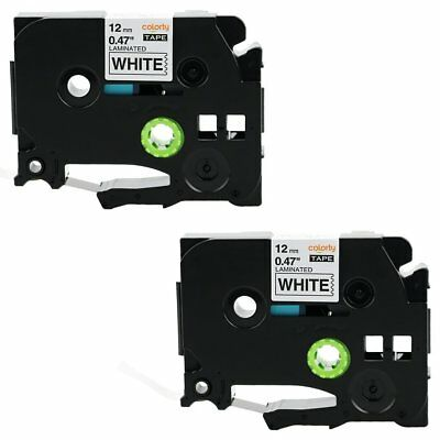 coLorty Compatible Brother TZE231 2PK 1/2-inch Standard Laminated P-Touch Tape,