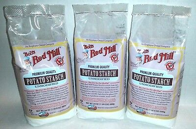 Bob's Red Mill - Potato Starch Unmodified - 24 oz (1 lb 8 oz) (680 g) - 3 BAGS!