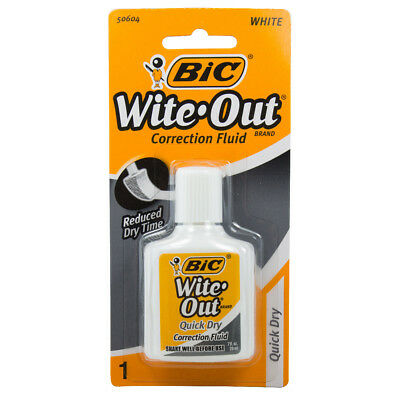 BIC - Wite-Out Quick Dry Correction Fluid White - 0.7 fl. oz. (20 ml)