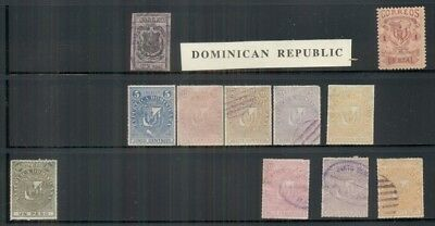 DOMINICAN REPUBLIC 1870-1979, mint NH, hinged & used on stockpages, Scott $554.
