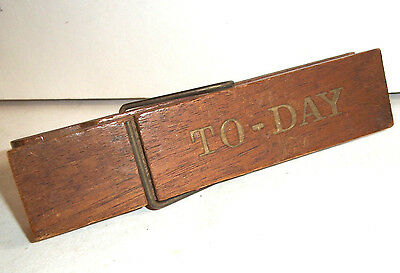 Vintage Novelty Giant Peg Clip 'To - Day' Note Holder Kitchenalia