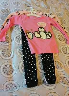 Girls Awwwsome 4 Pc Penguins Pj's 2 T