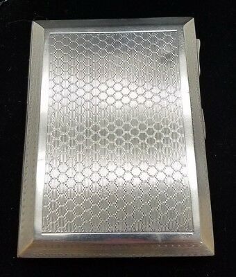 Vintage Sterling Silver Cigarette Case, 89.3 Grams Made in Chester, England.
