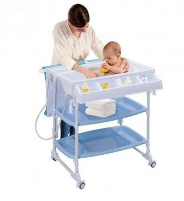Baby Bath Table Infant Changing Station High Quality Non Toxic With Tube Folded