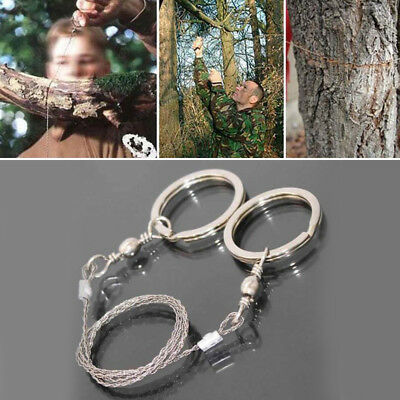 Metal Steel Wire Saw Bushcraft Hunting Camping Emergency Survival Gear Tool