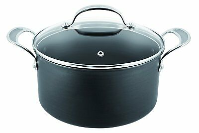 Tefal Jamie Oliver 24cm Premium Hard Anodised Induction Stewpot with Glass Lid