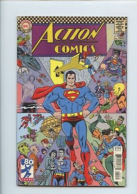DC ACTION COMICS 1000 Superman MICHAEL ALLRED 60's Variant Cover First Print