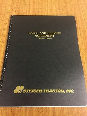 Steiger Sales And Sercice Agreement Booklet